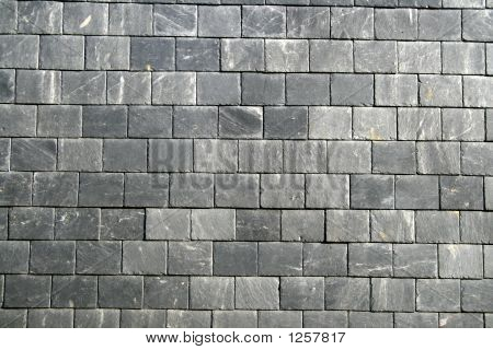Gray Roof Tiles Background.