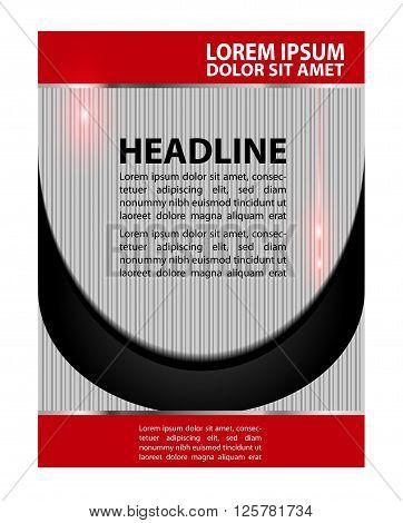brochure folder leaflet. Presentation of Poster flyer design editable vector illustration