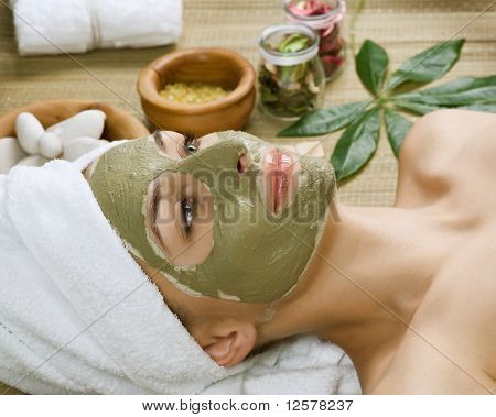 Spa facial Schlamm mask.dayspa