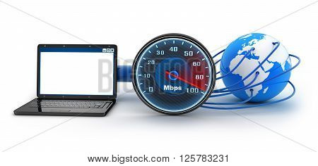 Laptop and internet connection speed (done in 3d)