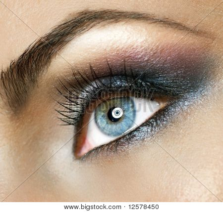 Beautiful Woman's Eye.Makeup