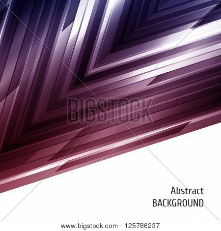 Abstract geometric background. Asymmetry design in blue and red. Vector illustration.
