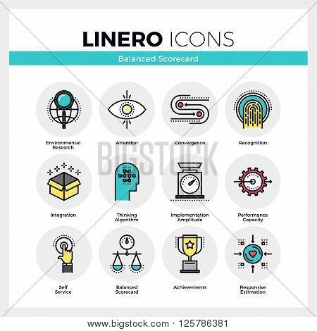 Balanced Scorecard Linero Icons Set