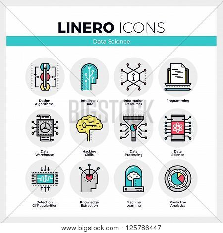 Data Science Linero Icons Set