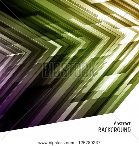 Abstract geometric background in violet and green. Asymmetry design. For catalog cover business flyer party poster. Vector illustration.