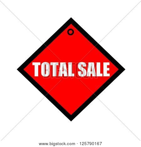 TOTAL SALE black wording on quadrate red background