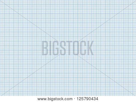 One millimeter graph paper cyan color on white, a4 size horizontal sheet