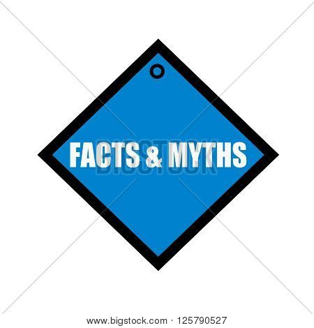FACTS & MYTHS white wording on quadrate blue background