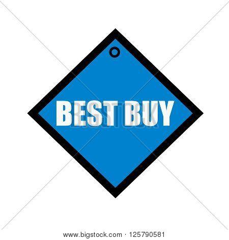 best buy white wording on quadrate blue background