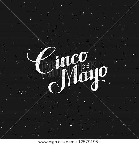Cinco de Mayo vector illustration. 5 of May holiday vector. Cinco de Mayo holiday banner.  Cinco de Mayo holiday lettering. Cinco de Mayo handwritten illustration