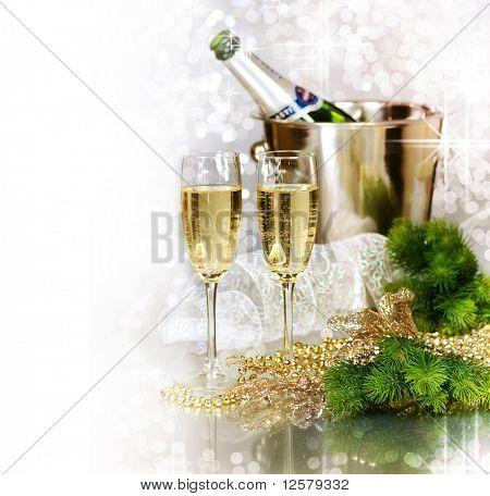 Celebración del año de Champagne.New.