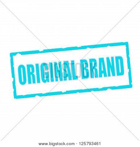 original brand wording on chipped Blue rectangular signs