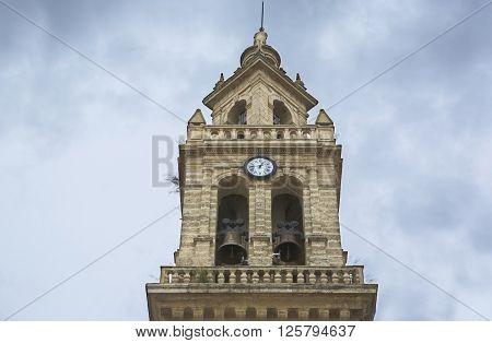 Saint Lawrence Church or San Lorenzo Bell Tower Cordoba Spain