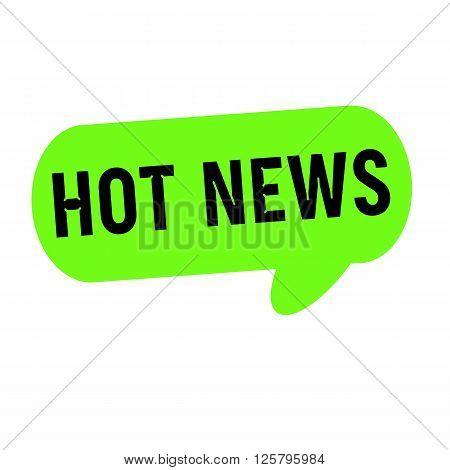Hot news wording on Speech bubbles green cylinder