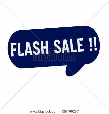 Flash sale wording on Speech bubbles blue cylinder