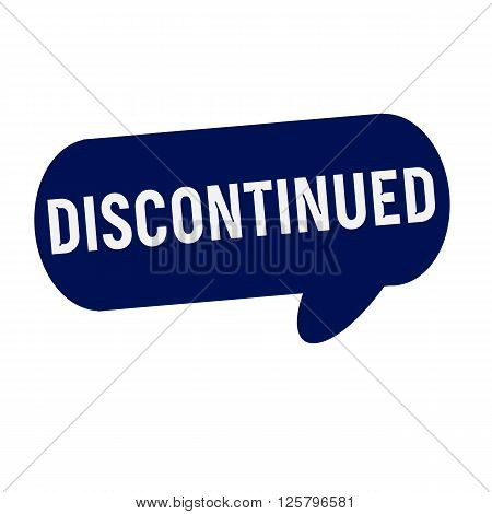 Discontinued wording on Speech bubbles blue cylinder