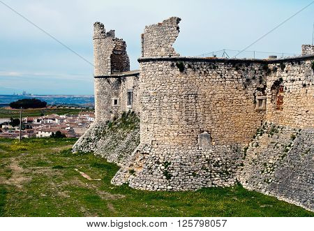 View of castle of the Counts XV century in Chinchon near of Madrid