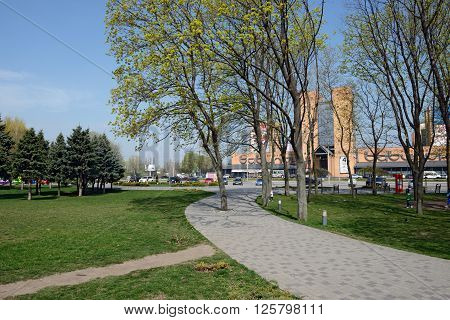 Spring New Park Of Sunny District Is In Dnepropetrovsk, Ukraine.
