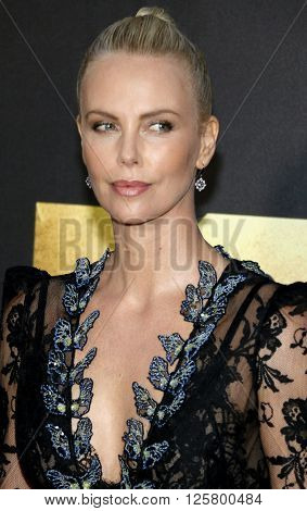 Charlize Theron at the 2016 MTV Movie Awards held at the Warner Bros. Studios in Burbank, USA on April 9, 2016.