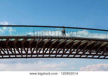 Side View Of Costituzione Bridge In Venice, Italy