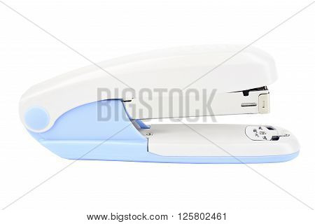 Blue and White Desk Stapler with Clipping Path