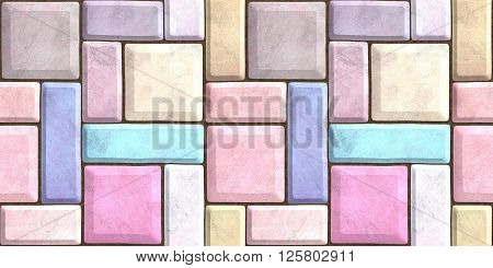pavers decoration  seamless texture abstract brick mosaic