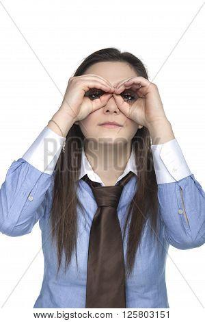 Binoculars With Hands