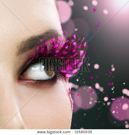 Schöne Mode Holiday Make-up