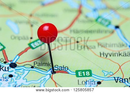 Salo pinned on a map of Finland