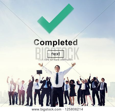 Completed Accomplishment Achievement Finished Success Concept