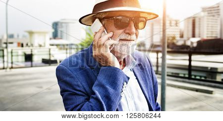 Gadget Hipster Leisure Lifestyle Solitude Rooftop Concept