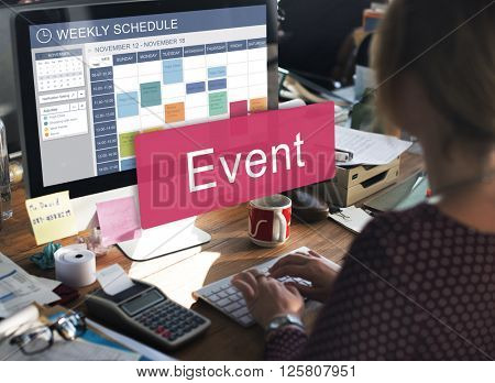 Event Calendar Meeting People Concept