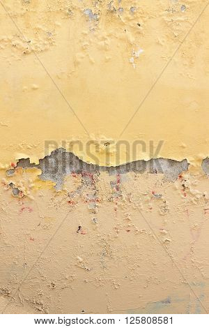Damaged colored plaster background - image with copy space