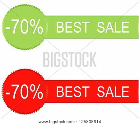 70 percent sale icons design vector illustration