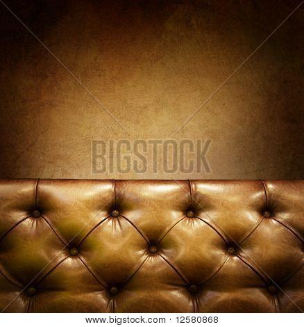 Muebles de lujo con copyspace. Cuero genuino