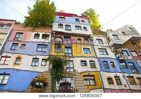 Hundertwasser is a residential complex built with Vienna ... The shape and colors are unimaginable