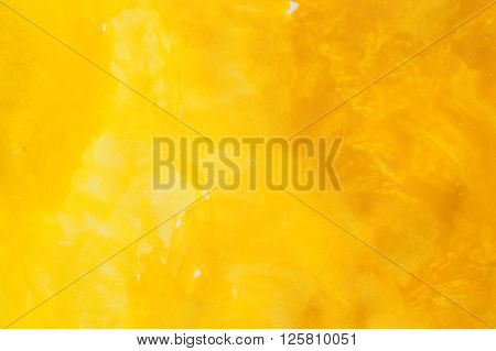Yellow Watercolors On Paper Texture - Handpainted Design Element - Abstract Backround