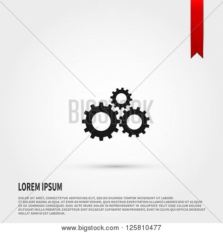 Gear icon vector. Gear icon JPEG. Vector illustration design element. Flat style design icon.