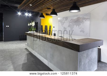 Modern office interior - reception area in modern business office