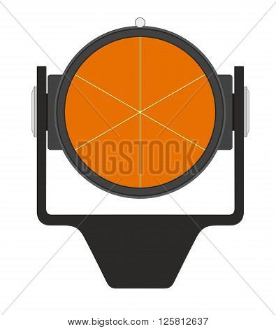Vector illustration of geodetical prism on white background