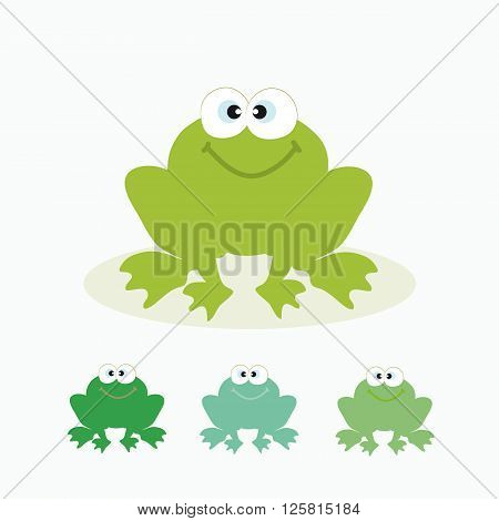The image of a frog. Frog is available in several different coloring.
