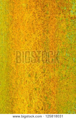 Oxidized Material - Close Up Of A Textured Oxidized Surface.background Design - Yellow And Green