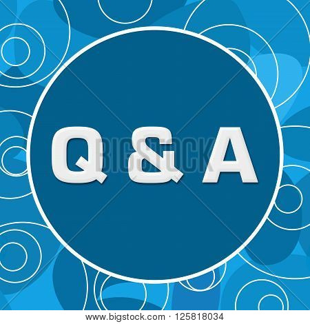 Q And A text written over abstract blue background.
