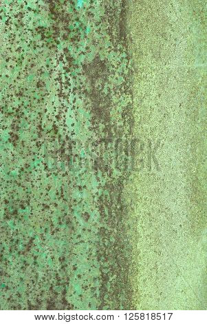 Oxidized Material - Close Up Of A Textured Oxidized Surface.background Design - Green And Brown Colo