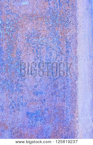 Oxidized Material - Close Up Of A Textured Oxidized Surface.background Design - Blue And Violet