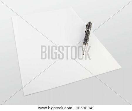 pen on white paper
