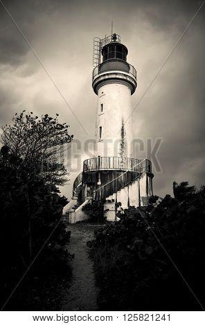 Lighthouse - vintage photo