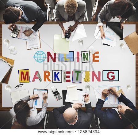 Online Connection Marketing Communication Concept