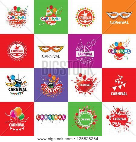 Abstract logo template carnival or festival. Vector illustration