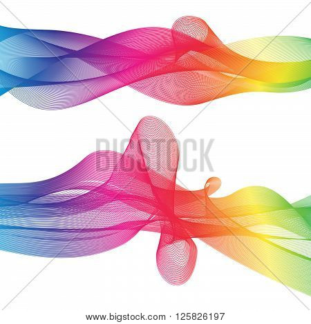 colorful wave design stuff  100% vector file can change the colors and re sizable,